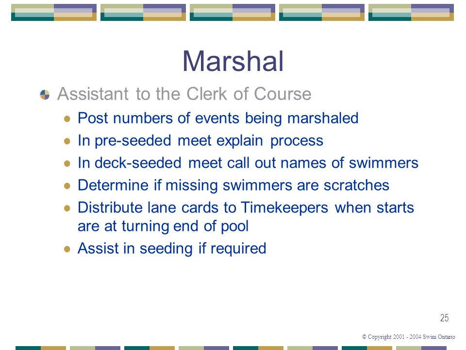 Marshal Assistant to the Clerk of Course