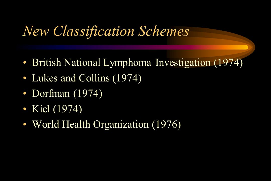 New Classification Schemes
