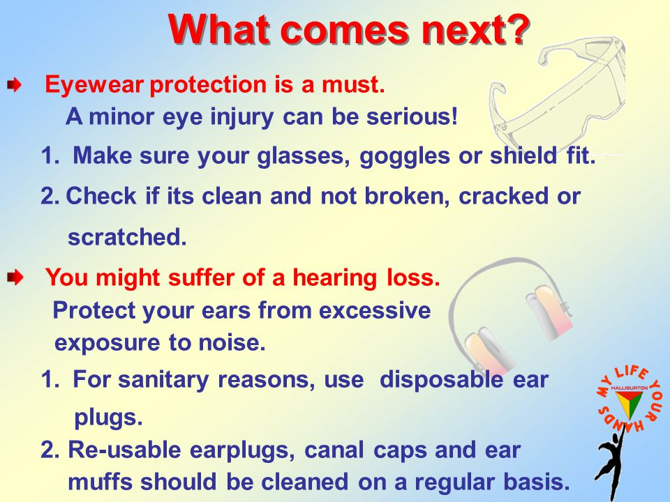 What comes next A minor eye injury can be serious!