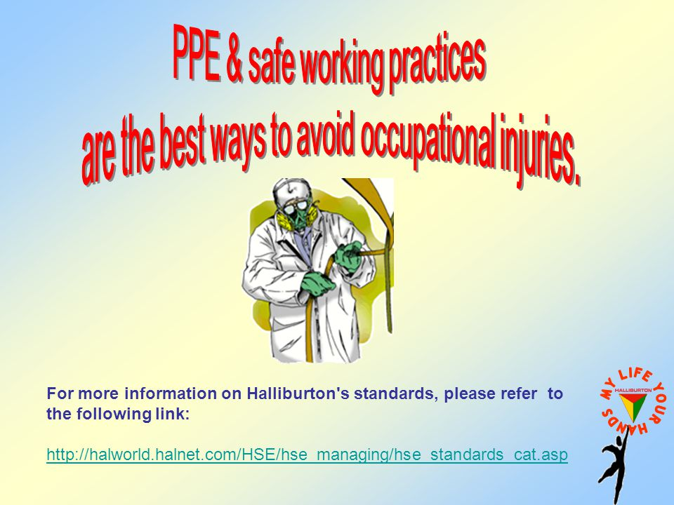 PPE & safe working practices