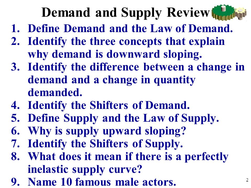 Demand and Supply Review