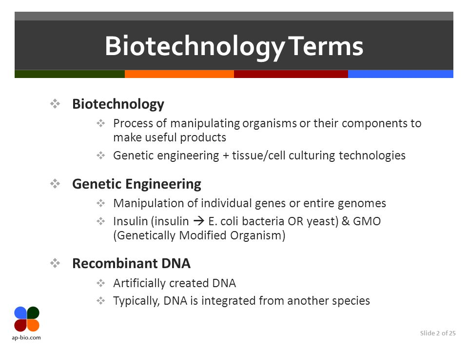 Biotechnology Terms Biotechnology Genetic Engineering Recombinant DNA