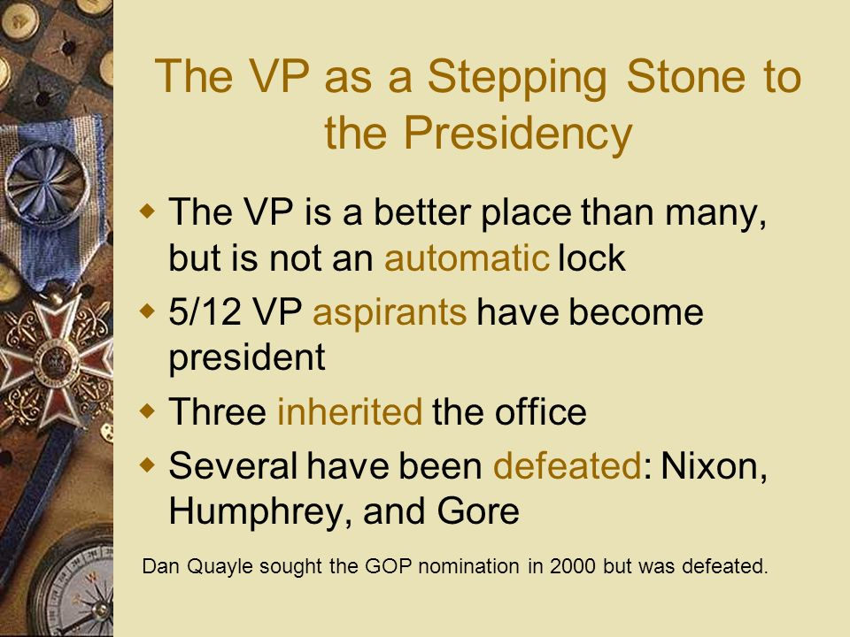 The VP as a Stepping Stone to the Presidency