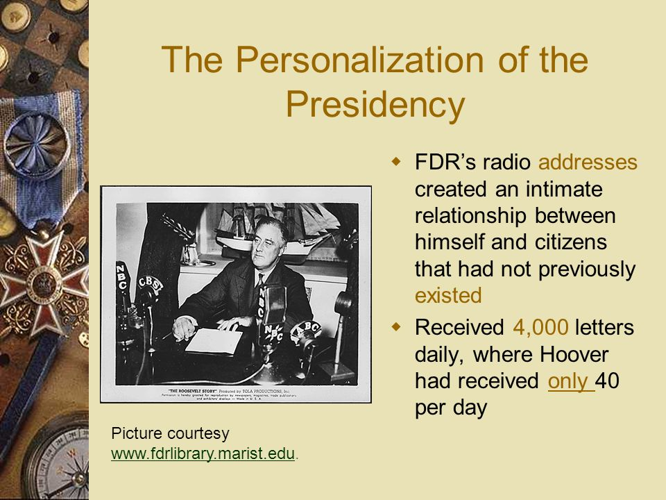 The Personalization of the Presidency