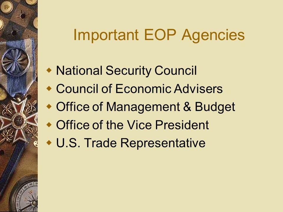 Important EOP Agencies