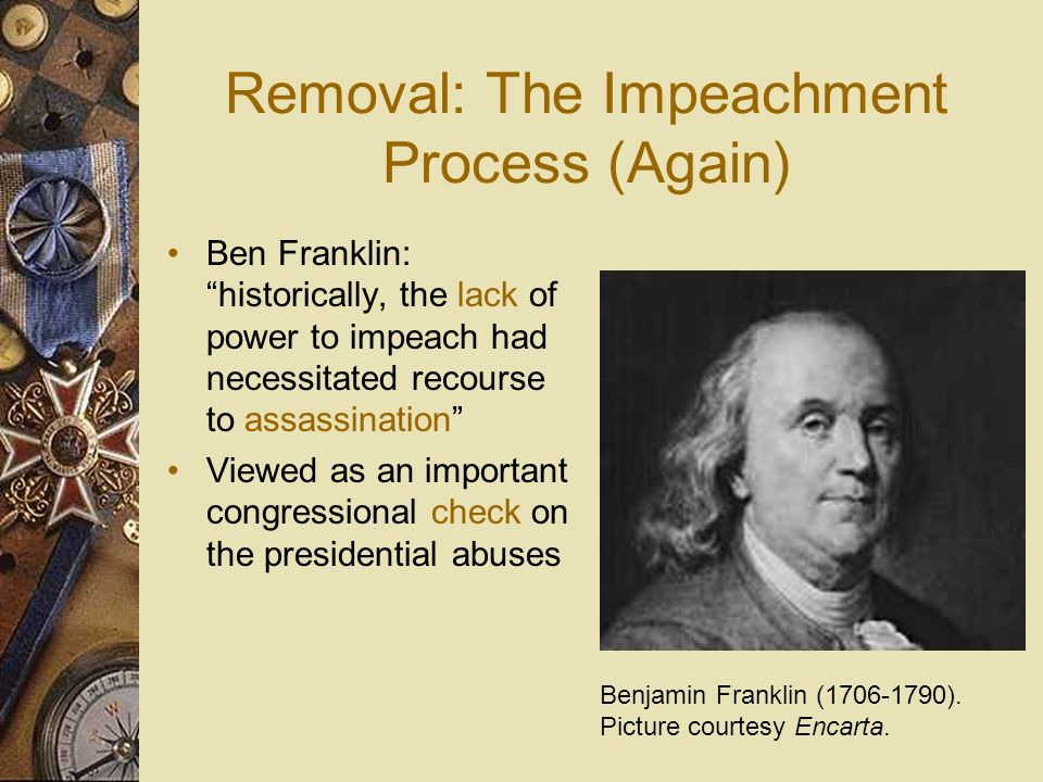 Removal: The Impeachment Process (Again)