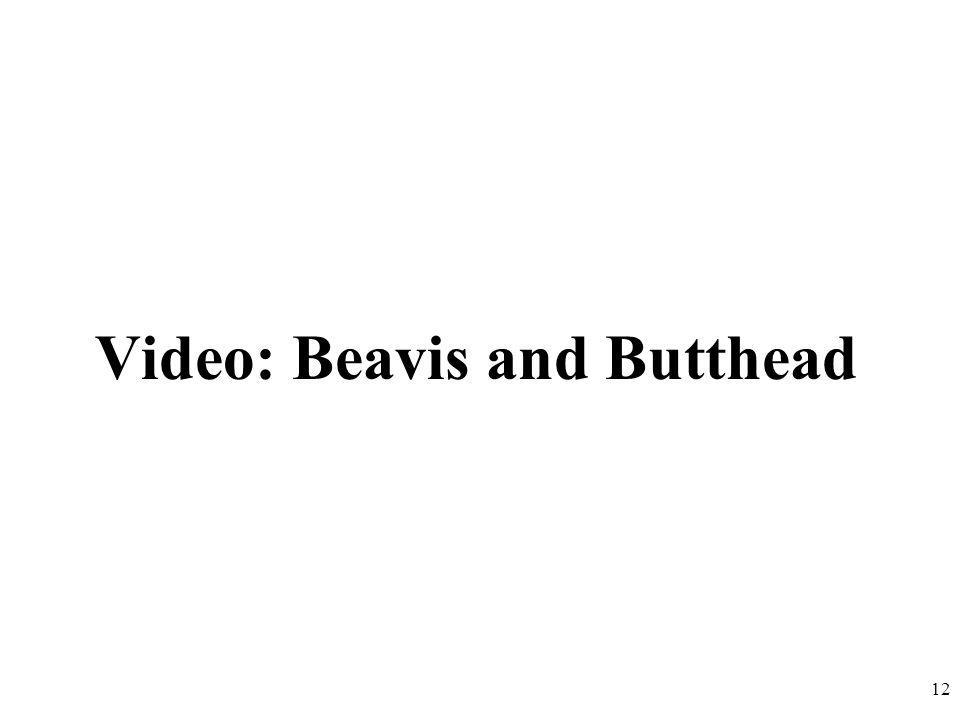 Video: Beavis and Butthead