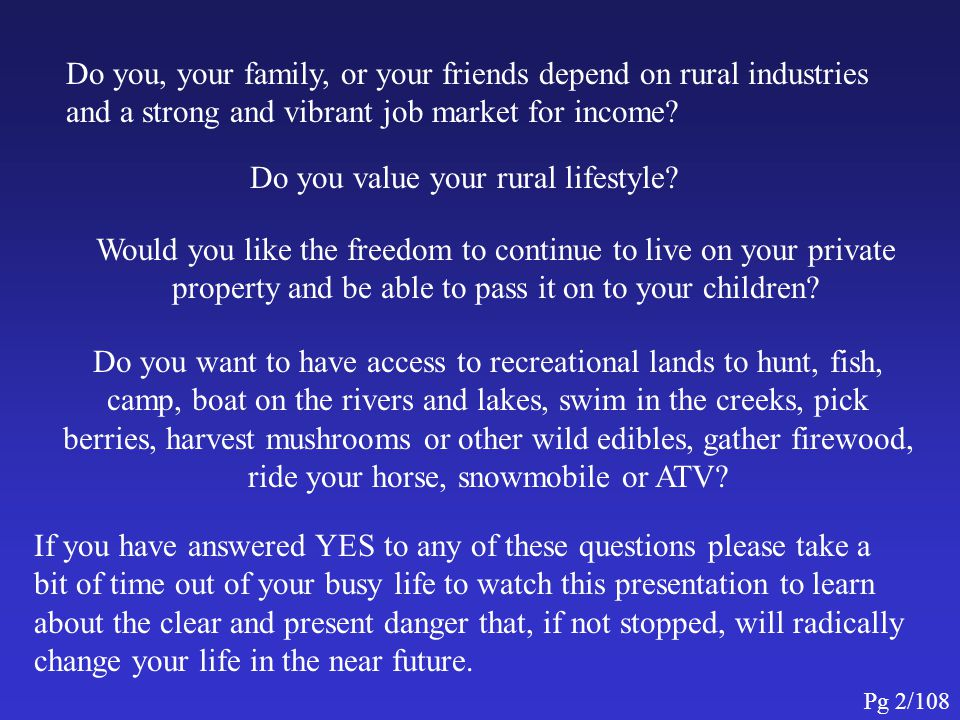 Do you value your rural lifestyle