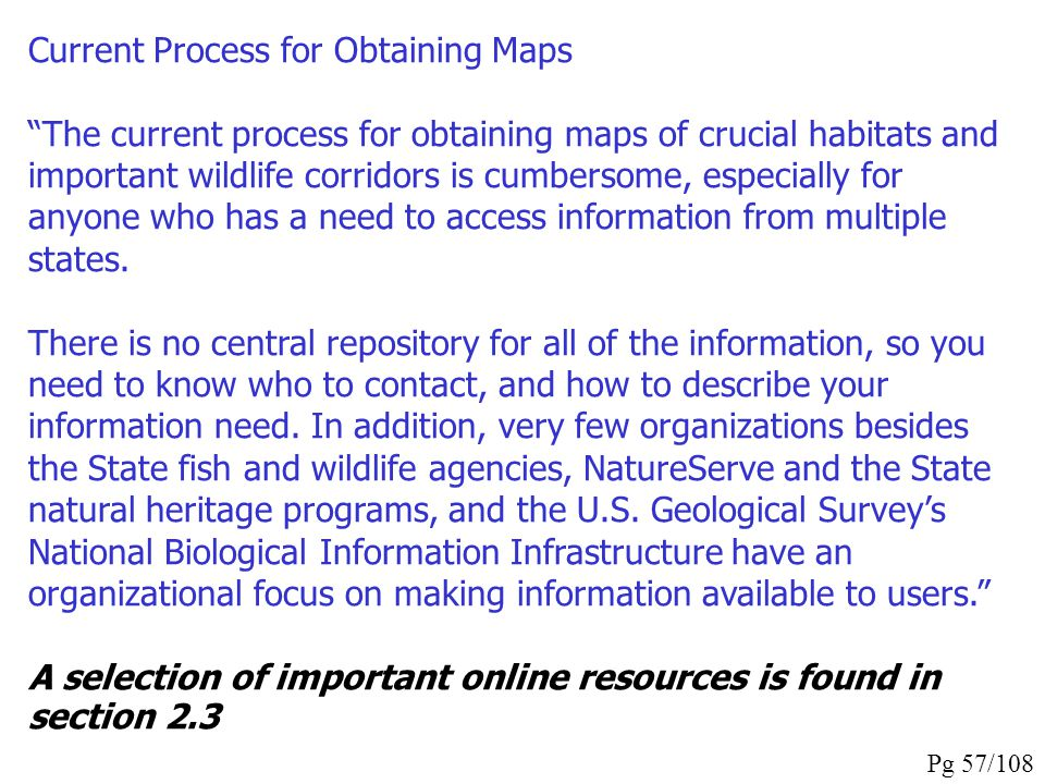 Current Process for Obtaining Maps