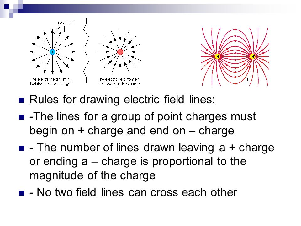 Rules for drawing electric field lines: