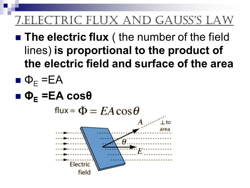7.electric flux and Gauss's Law