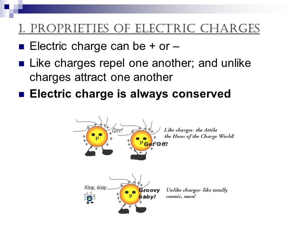 1. Proprieties of electric charges