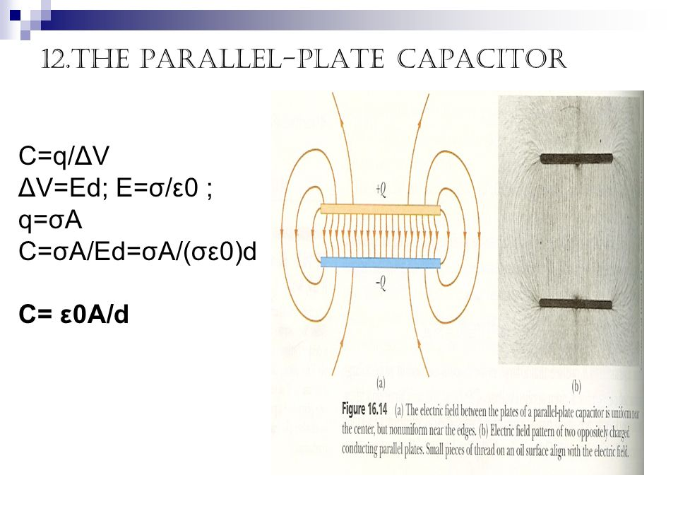 12.The parallel-plate capacitor