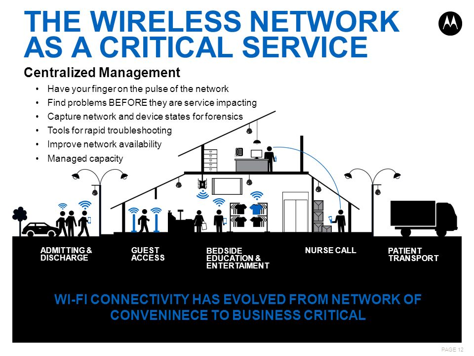 THE WIRELESS NETWORK AS A CRITICAL SERVICE