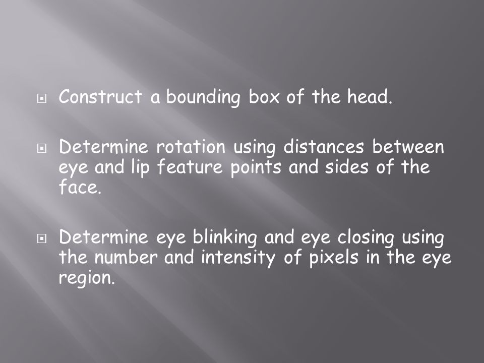 Construct a bounding box of the head.