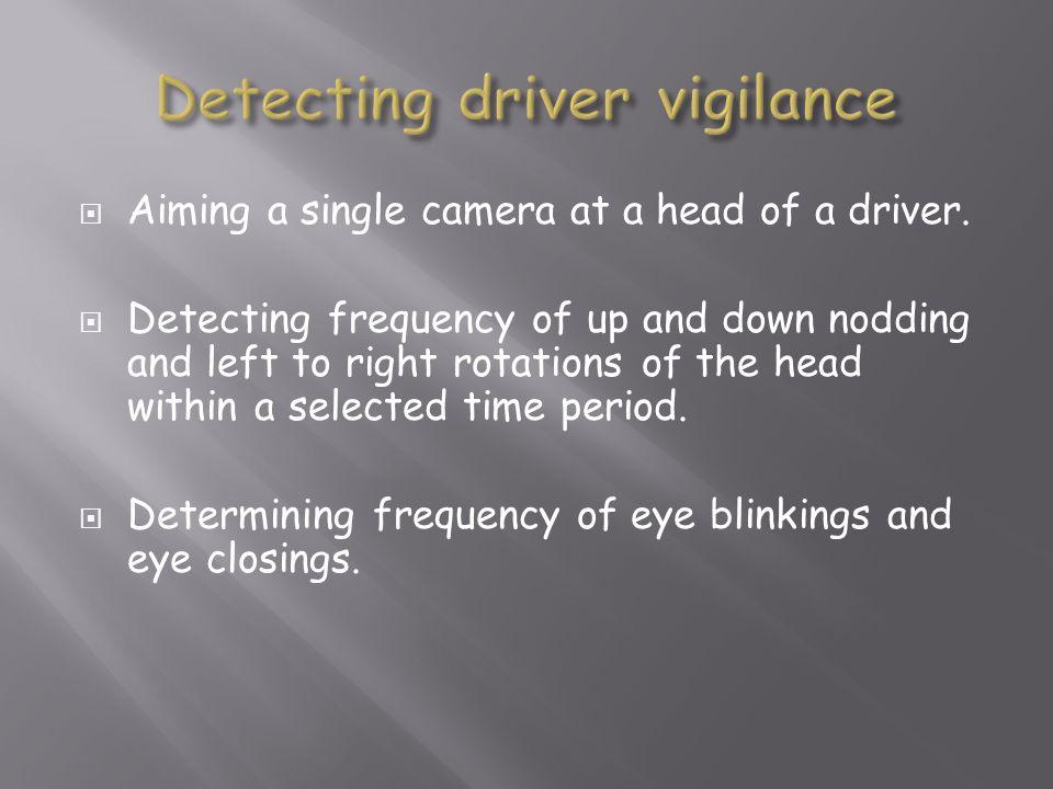 Detecting driver vigilance