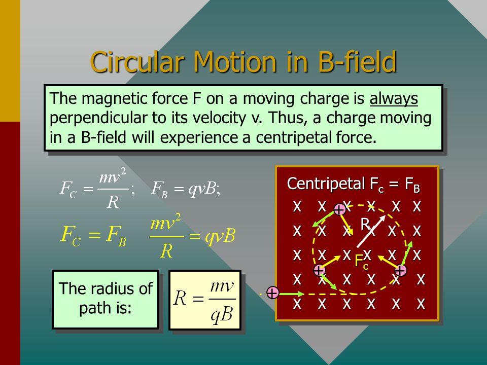 Circular Motion in B-field