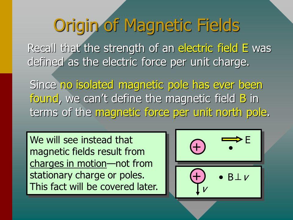 Origin of Magnetic Fields