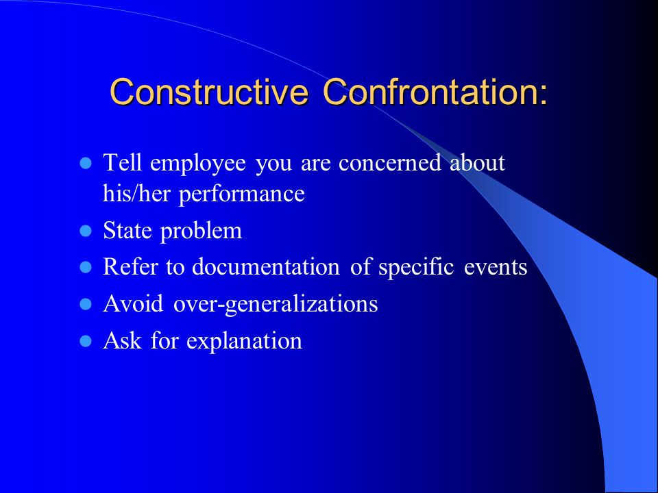 Constructive Confrontation:
