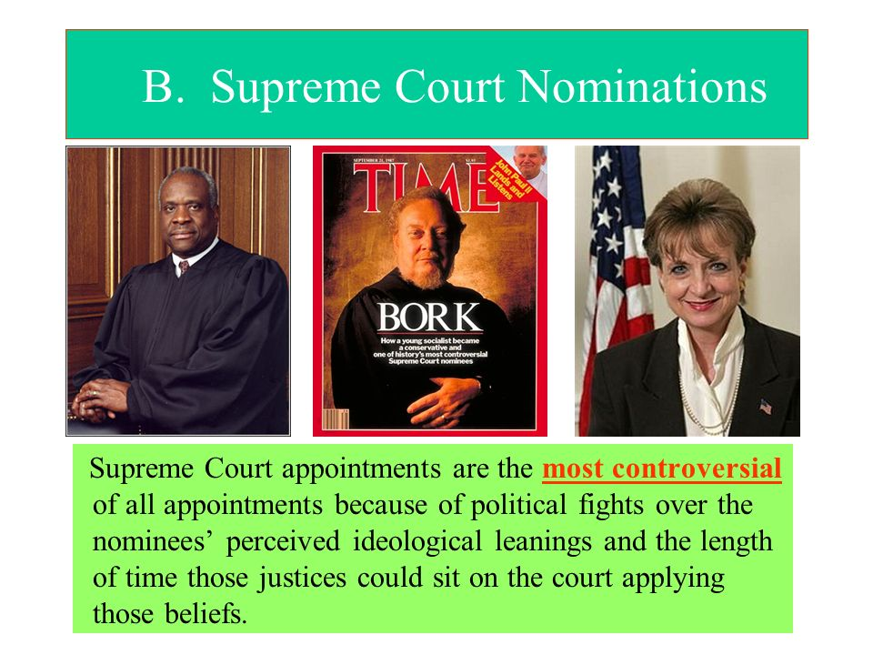 B. Supreme Court Nominations