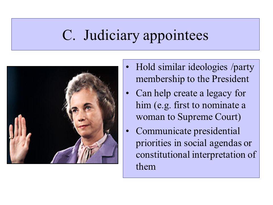 C. Judiciary appointees