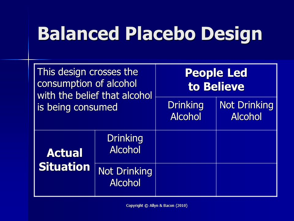 Balanced Placebo Design