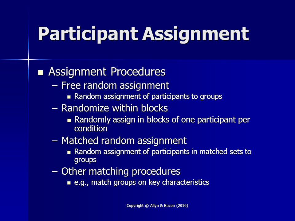 Participant Assignment