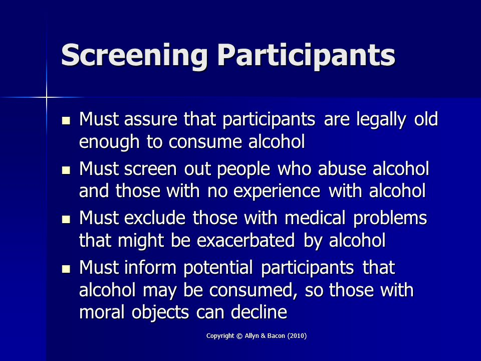 Screening Participants
