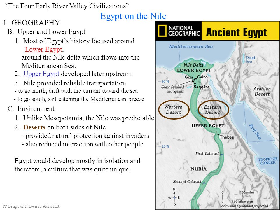 Egypt on the Nile I. GEOGRAPHY