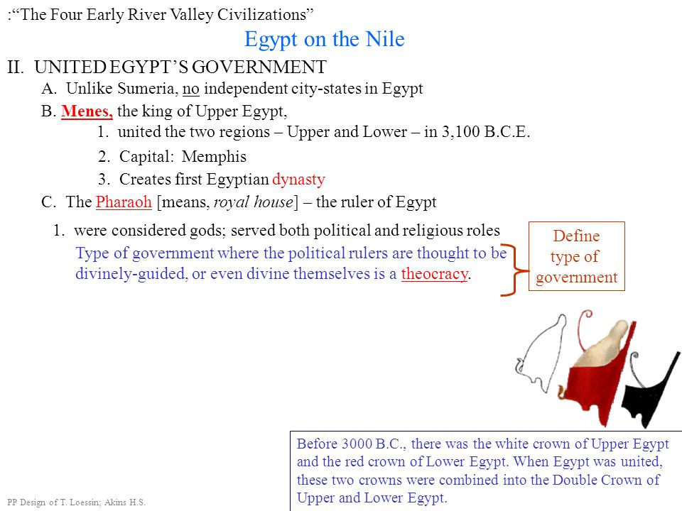 Egypt on the Nile II. UNITED EGYPT'S GOVERNMENT