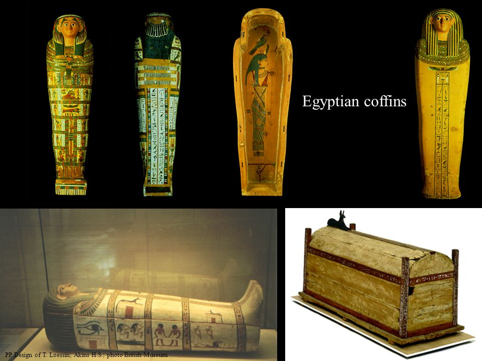 Egyptian coffins PP Design of T. Loessin; Akins H.S.; photo British Museum