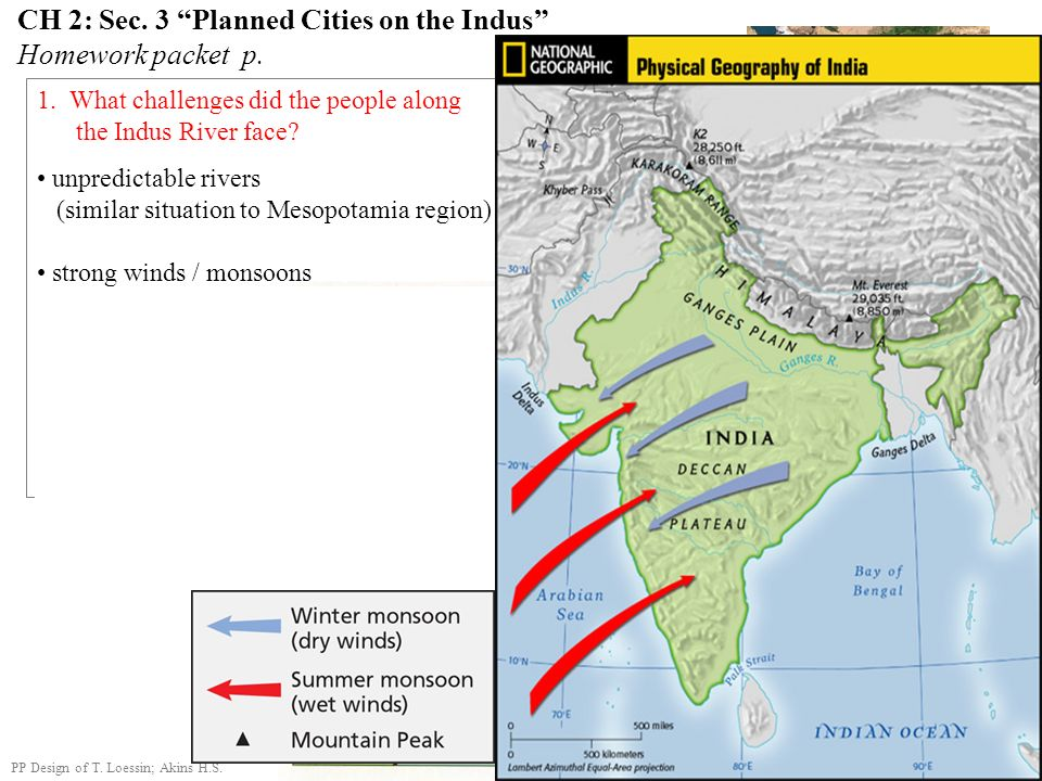 CH 2: Sec. 3 Planned Cities on the Indus Homework packet p.