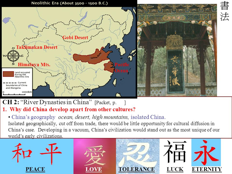 CH 2: River Dynasties in China [Packet, p. ]