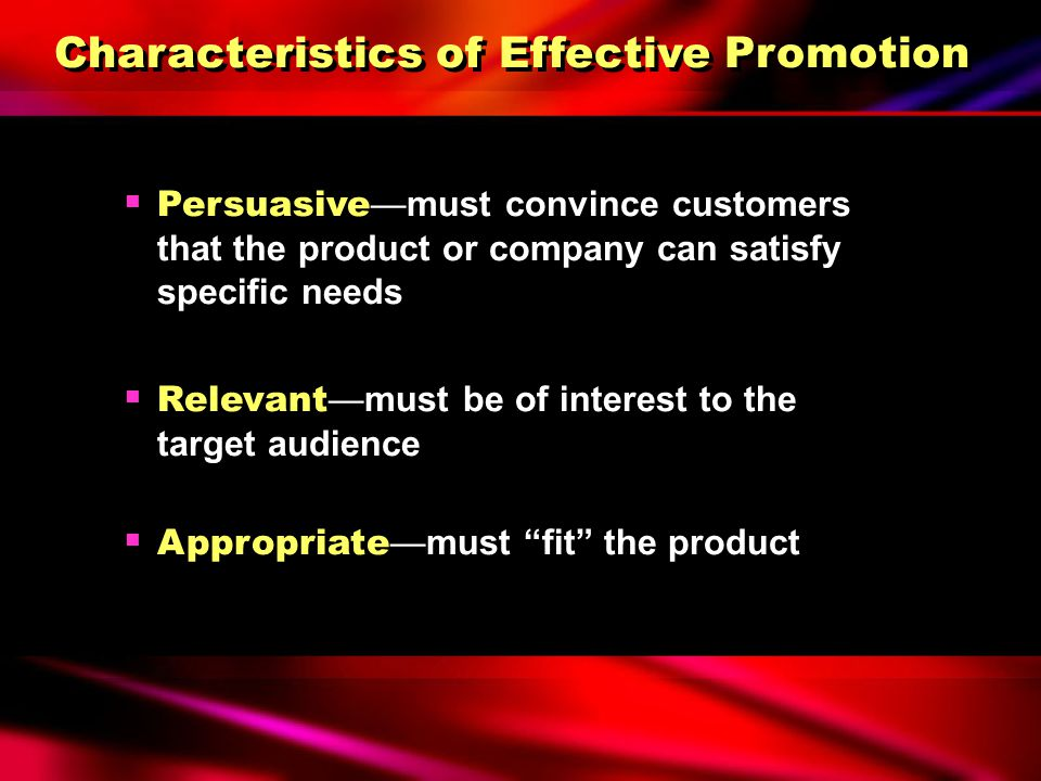 characteristics of sales promotion Chapter 3 sales promotion: an overview the marketing communication environment is undergoing a thorough change due to.