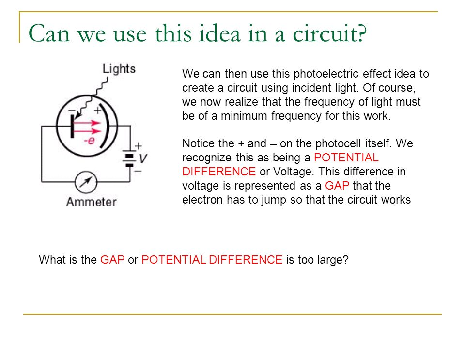 Can we use this idea in a circuit