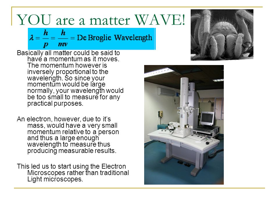 YOU are a matter WAVE!