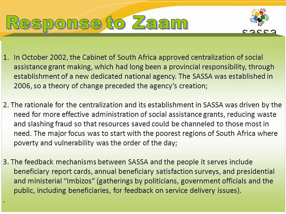 Response to Zaam