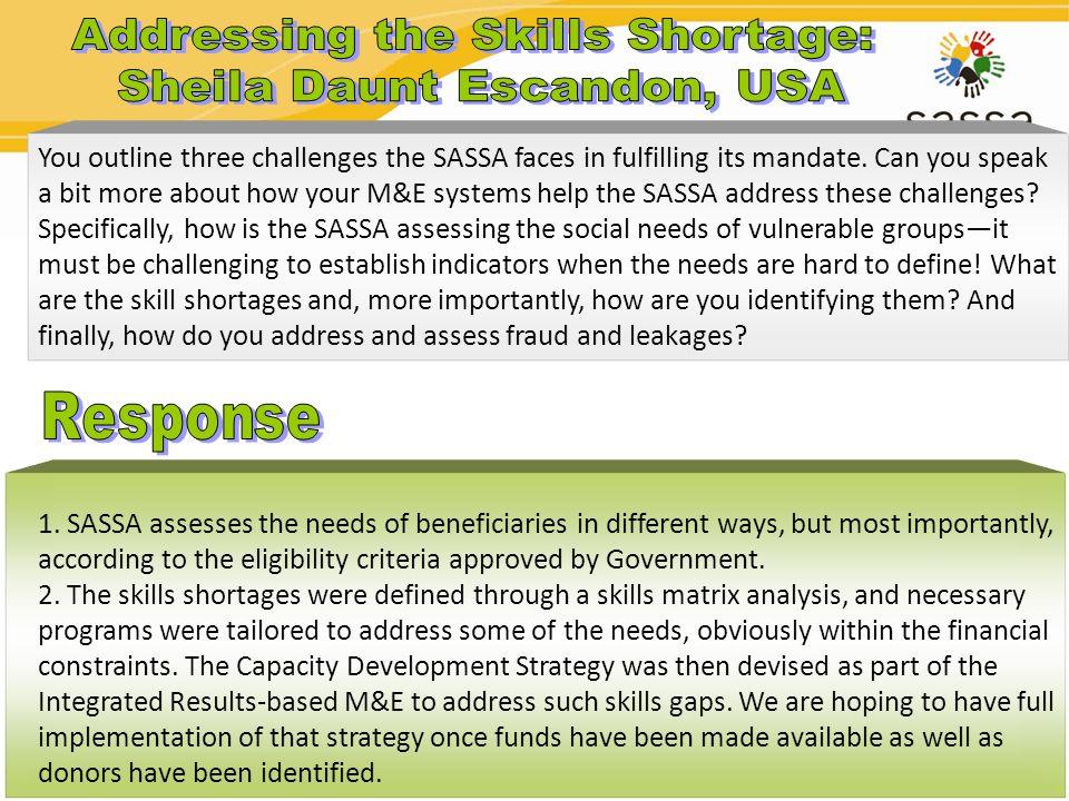 Addressing the Skills Shortage: Sheila Daunt Escandon, USA