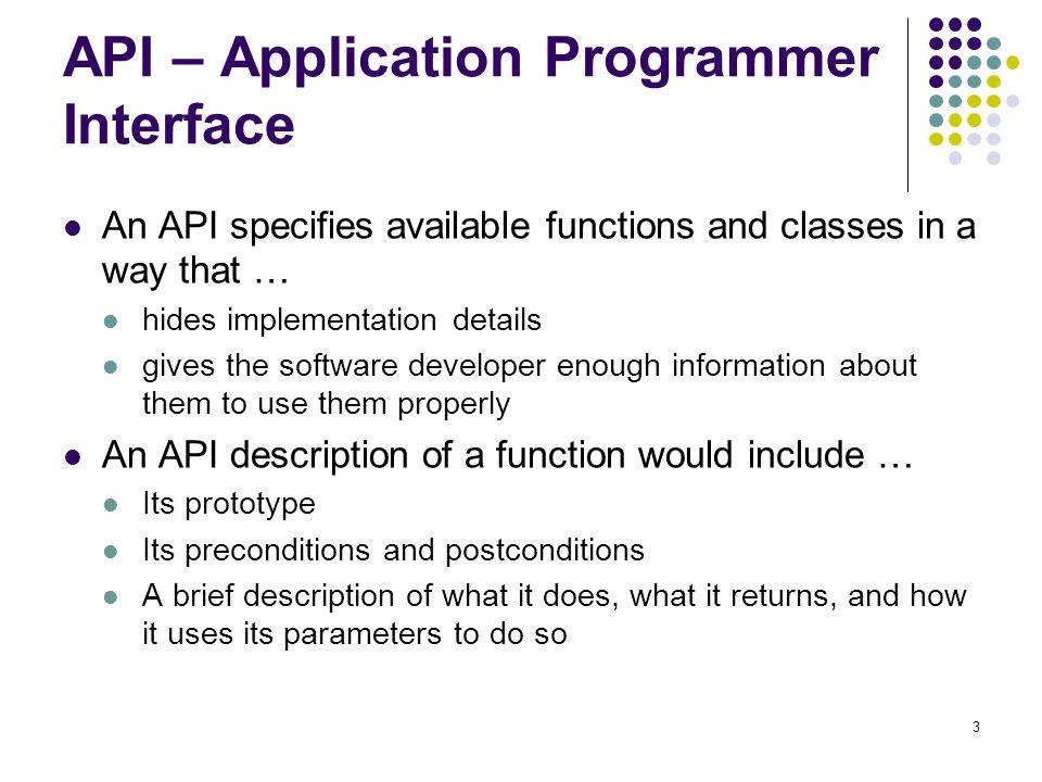 API – Application Programmer Interface