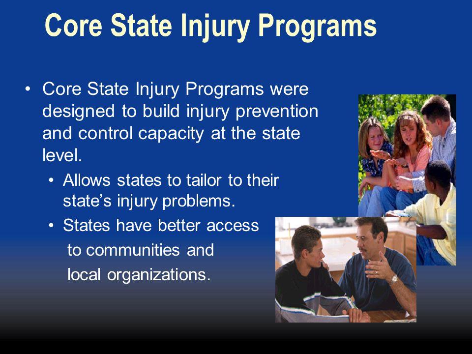 Core State Injury Programs