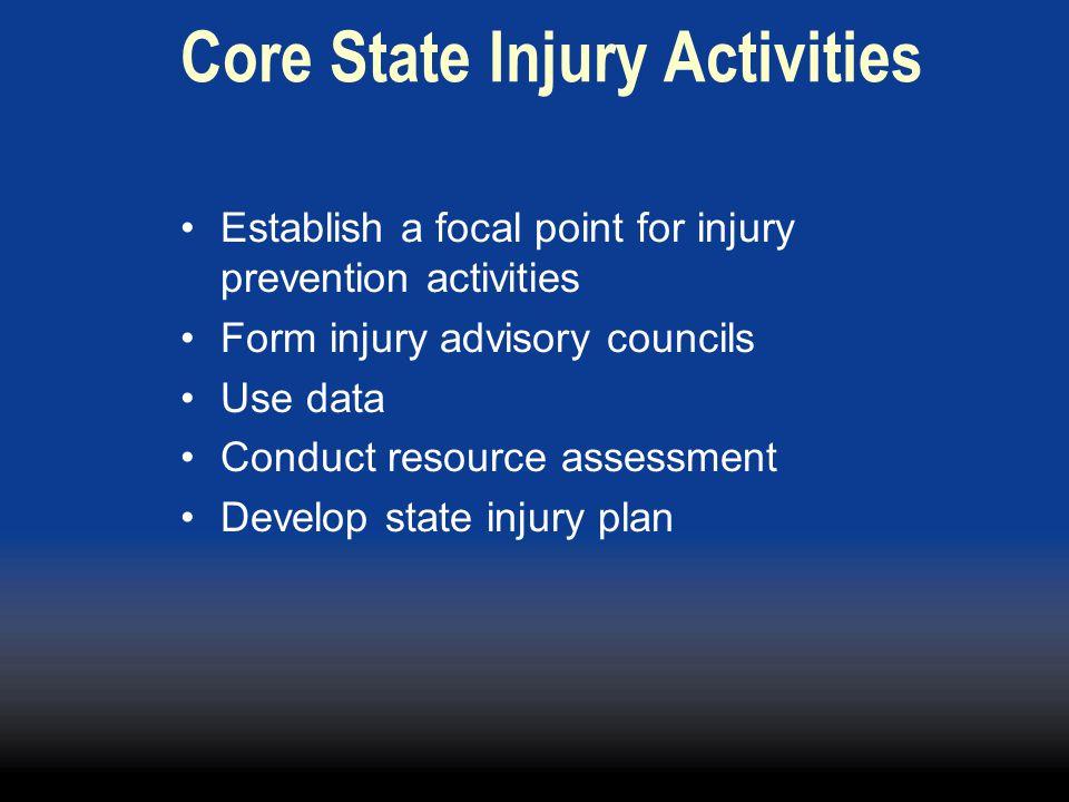 Core State Injury Activities