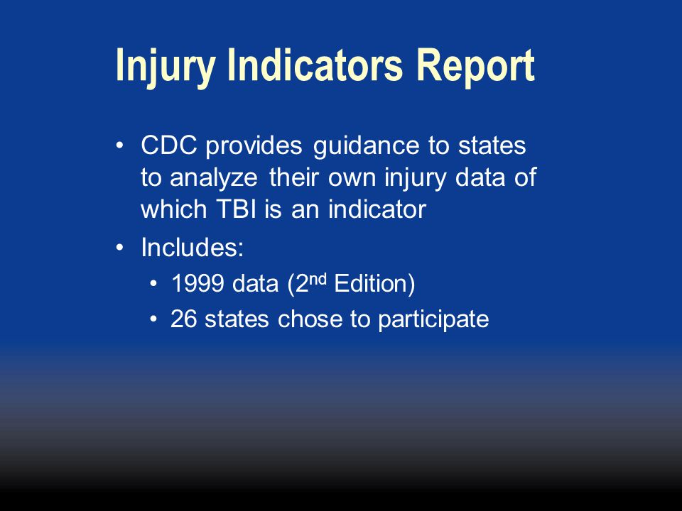 Injury Indicators Report