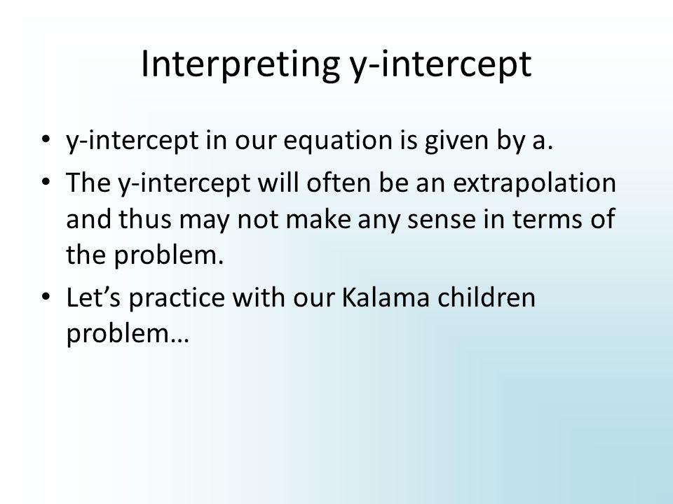 Interpreting y-intercept