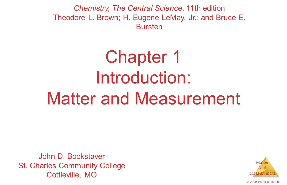 Chapter 1 Introduction: Matter and Measurement