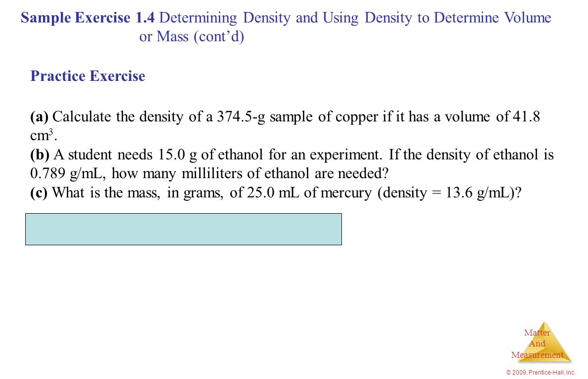 Ml, How Many Milliliters Of Ethanol Are Needed Density Mass Volume Mathscast