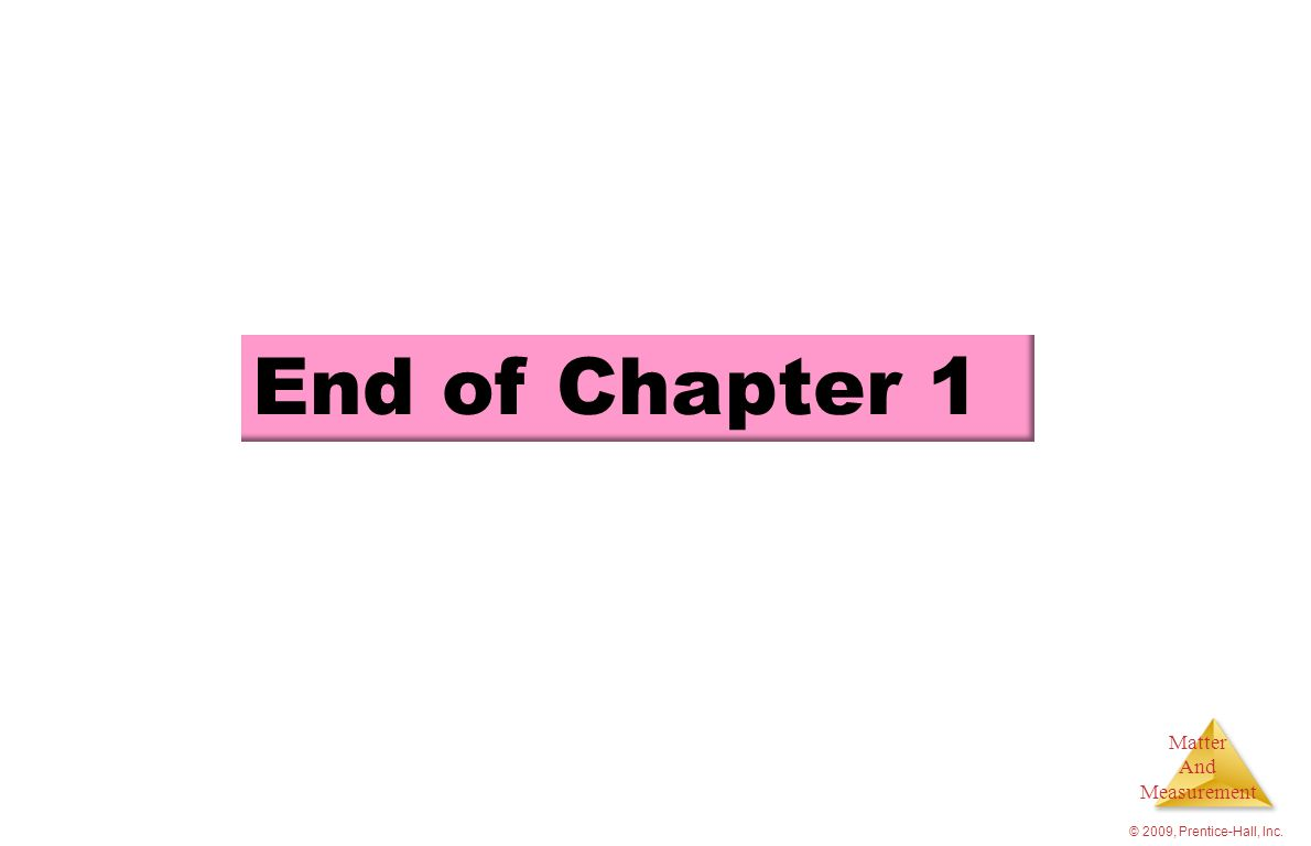 End of Chapter 1 © 2009, Prentice-Hall, Inc.