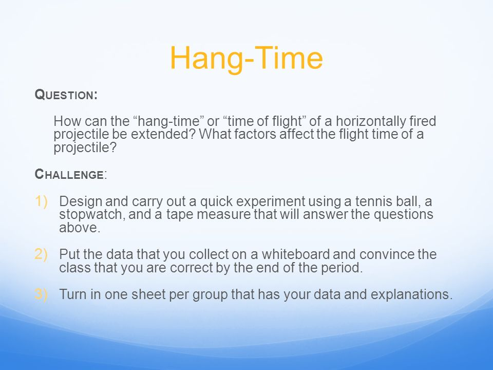 Hang-Time Question: