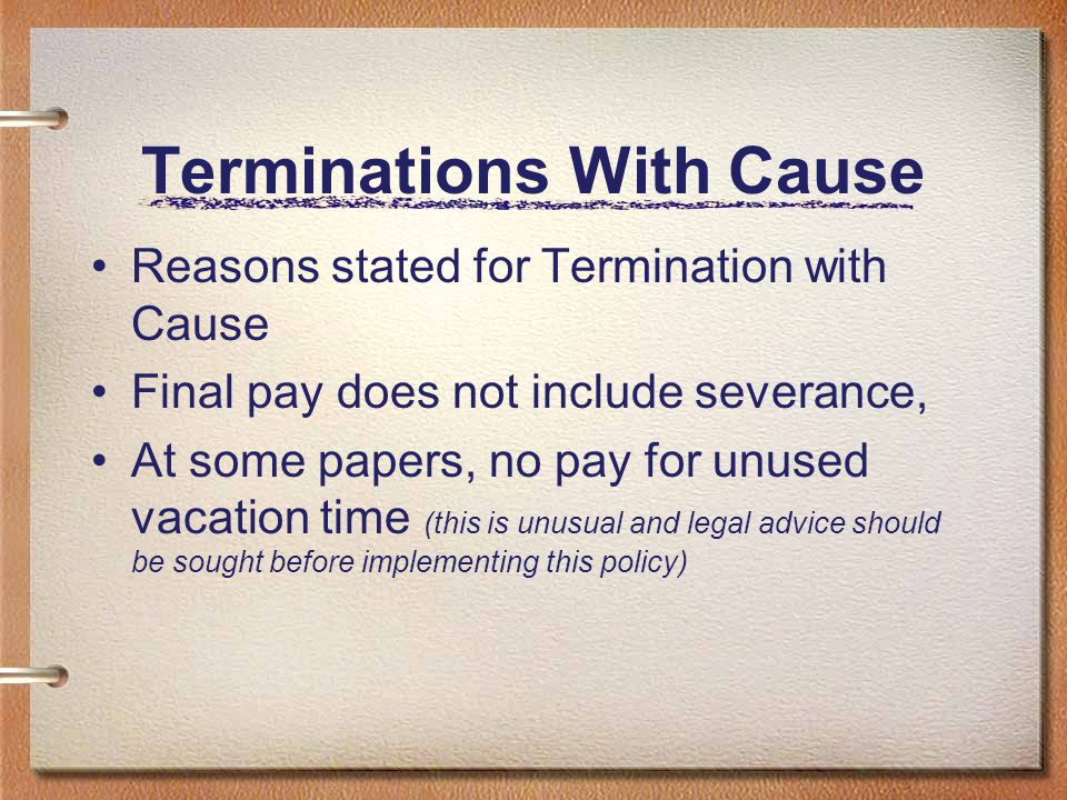Terminations With Cause