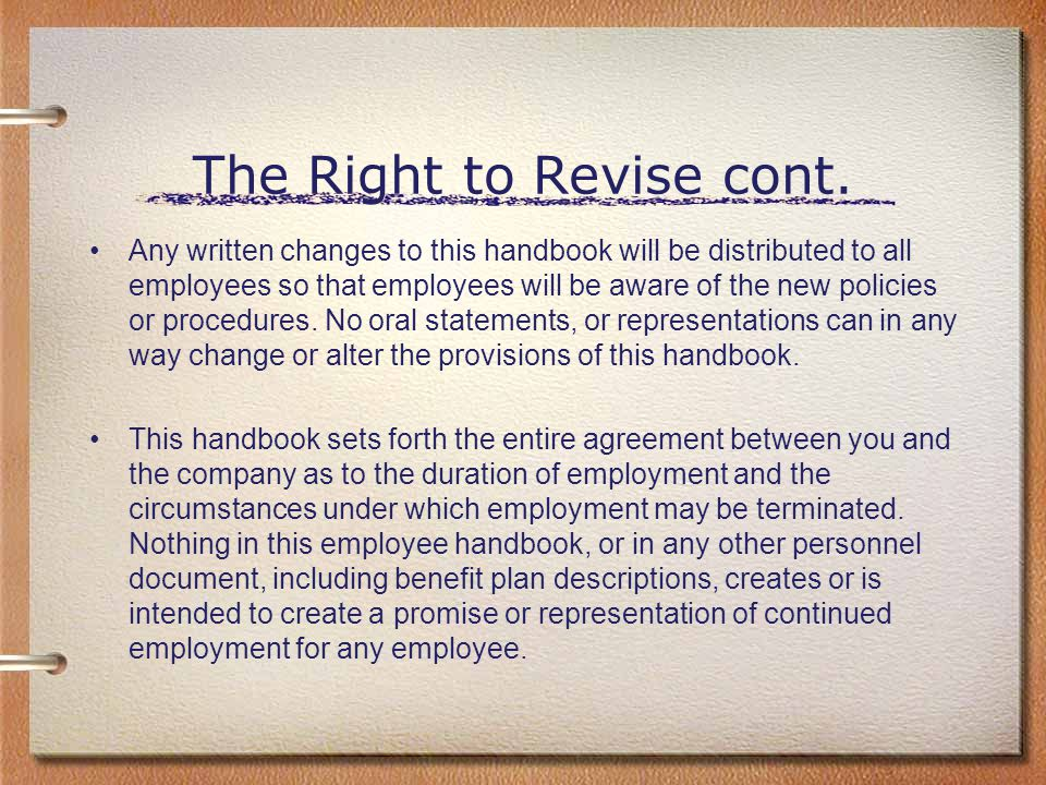The Right to Revise cont.