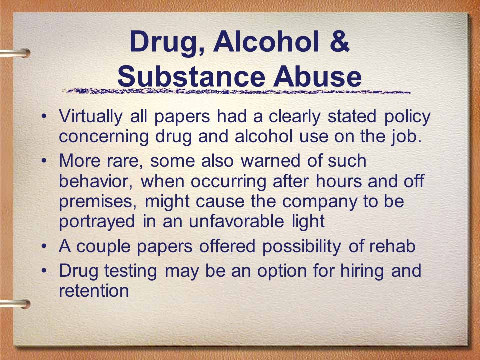 Drug, Alcohol & Substance Abuse